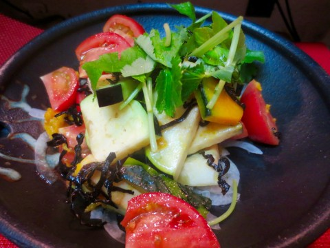 水茄子 トマト 南瓜サラダ
