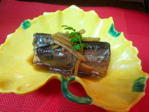 秋刀魚生姜煮
