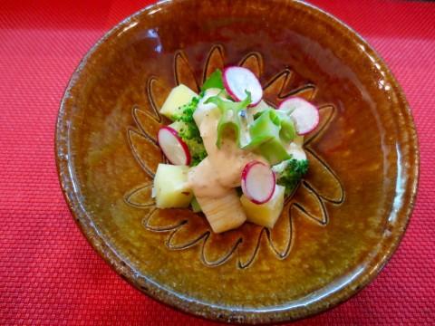 さつま芋 ブロッコリー イカ和え物