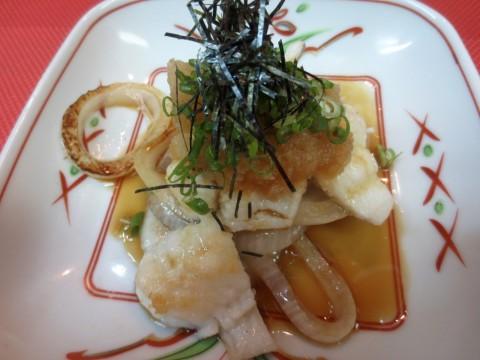 鱧と玉葱おろしポン酢