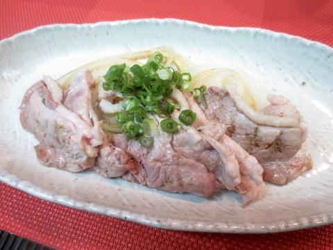 炙り合鴨と玉葱(辛子醤油)