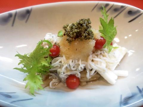 長芋、舞茸、しらすサラダ風