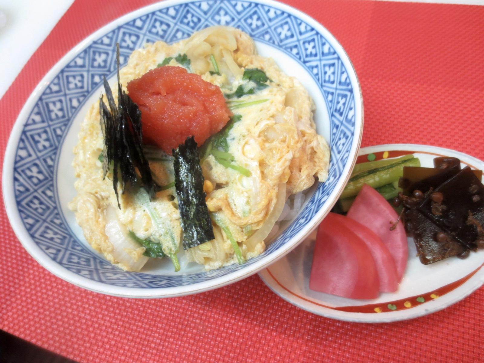 玉子丼(明太子のせ)