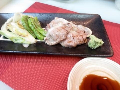 炙り合鴨と焼き野菜わさび醤油