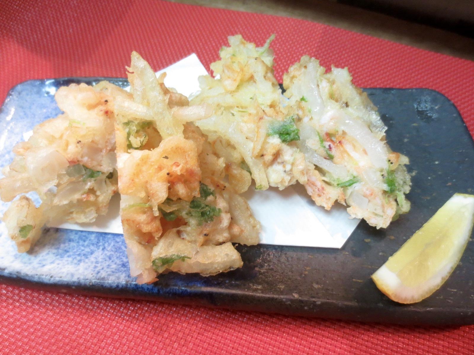 桜海老と玉ねぎかき揚げ