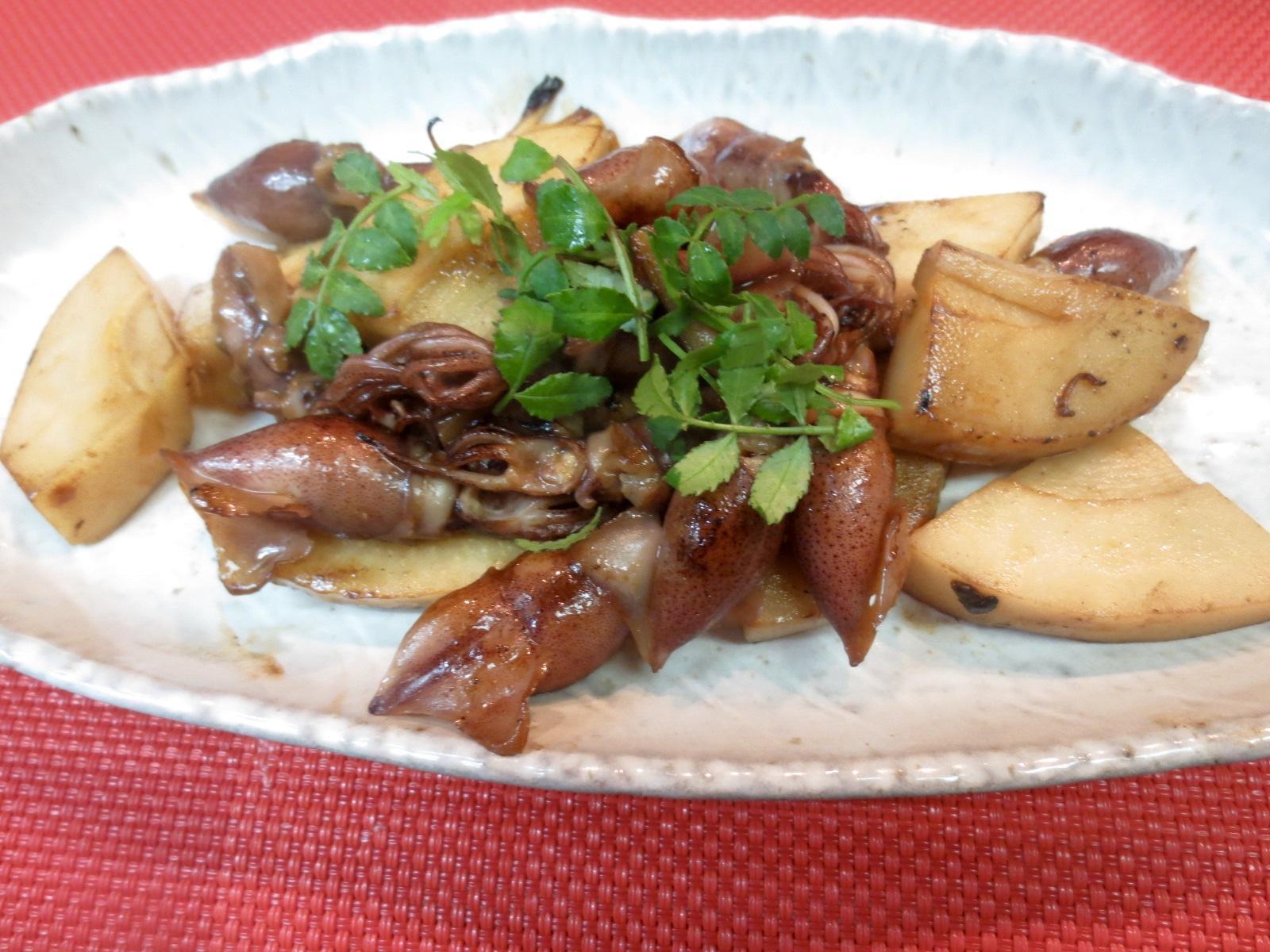 竹の子とほたるいか醤油焼
