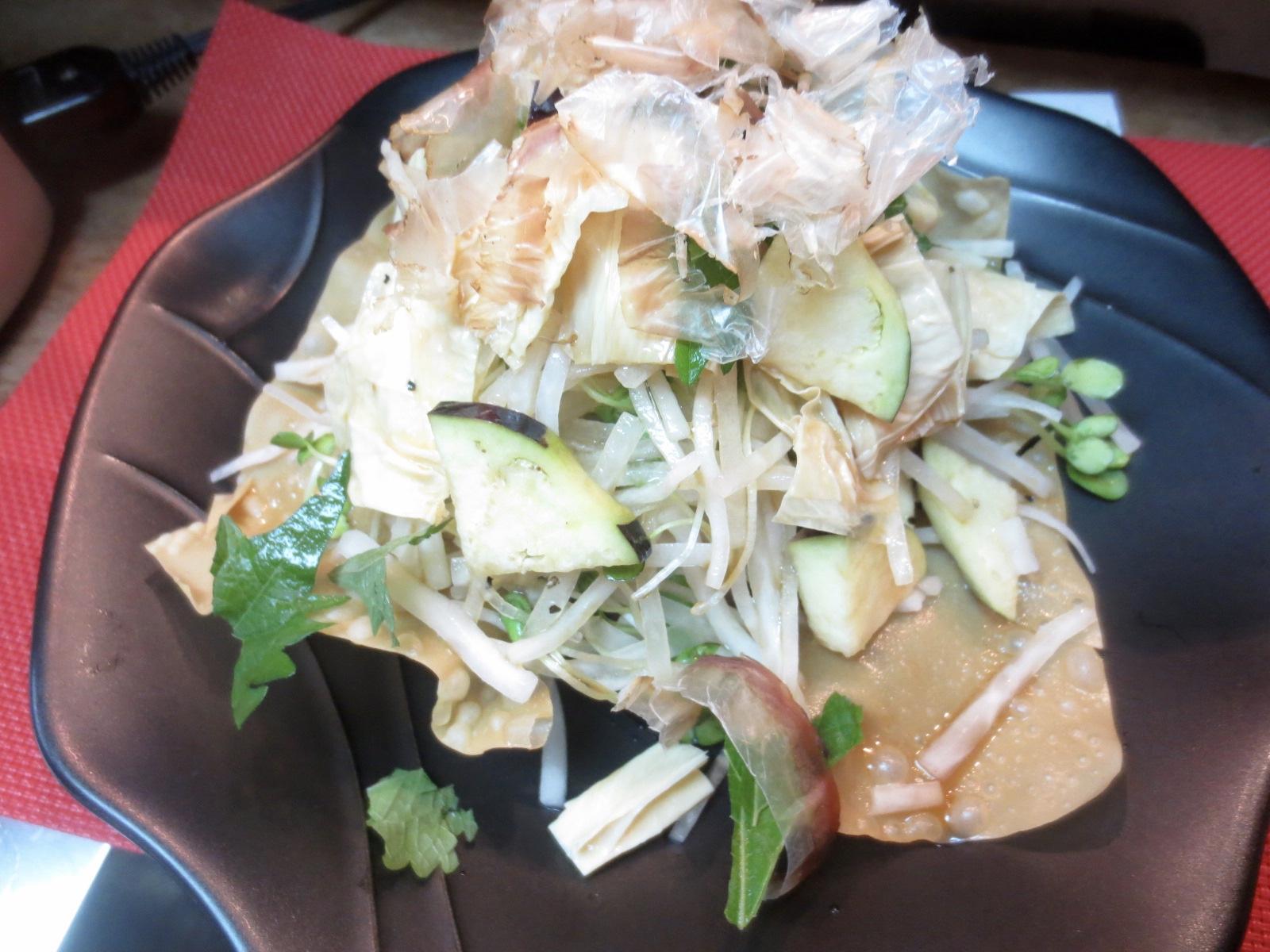 大根、水菜、湯葉サラダ