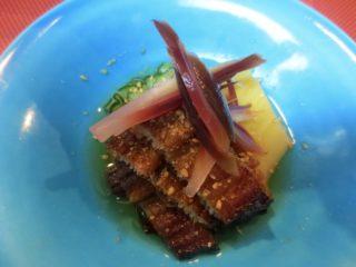 焼き穴子、竹の子生姜酢