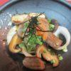 牛ロース、椎茸、玉葱焼き(ポン酢かけ)