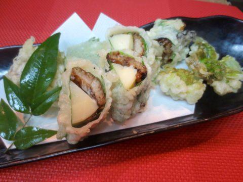 竹の子、チーズ、アスパラベーコン巻き