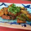 牛ロース、竹の子、アスパラ味噌炒め