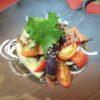蒸し茄子とトマト梅入りサラダ