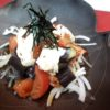 蒸し茄子、トマト、生湯葉サラダ