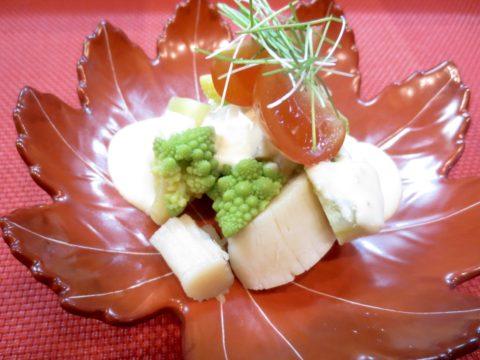 帆立、ロマネスコ、さつま芋和え物