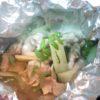 地とりと春野菜ホイル焼き