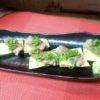 牛ロース、ズッキーニ焼き(わさび醤油)