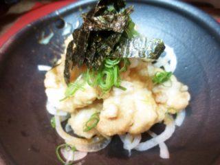 地とり天ぷら(おろしポン酢)