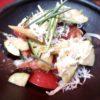 水茄子、トマト、ヤングコーンしらすサラダ