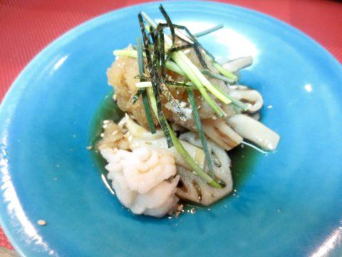 鱧、松茸、蓮根おろしポン酢