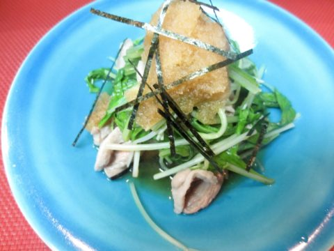 合鴨ロースと水菜あっさり酢