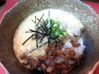 牛しぐれ丼(玉子とじあん)