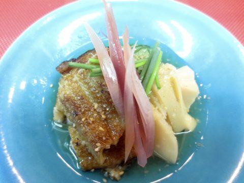 焼き穴子、胡瓜、竹の子生姜酢