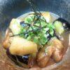 地とり、竹の子、茄子味噌煮