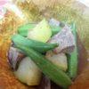 牛すじ肉、冬瓜、オクラ旨煮