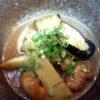 竹の子、地とり、茄子味噌煮