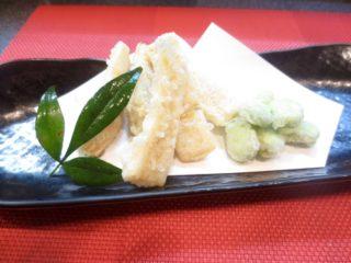 竹の子、そら豆天ぷら