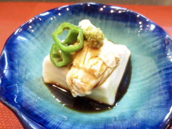 胡麻豆腐生湯葉わさびじょう油