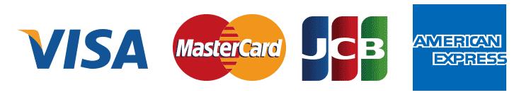 VISA アメリカンエキスプレス MasterCard JCB