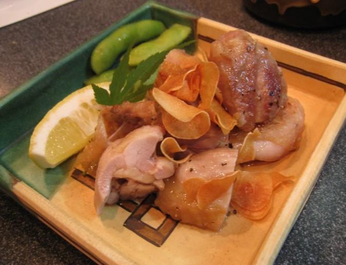 地鶏の塩ガーリック焼き