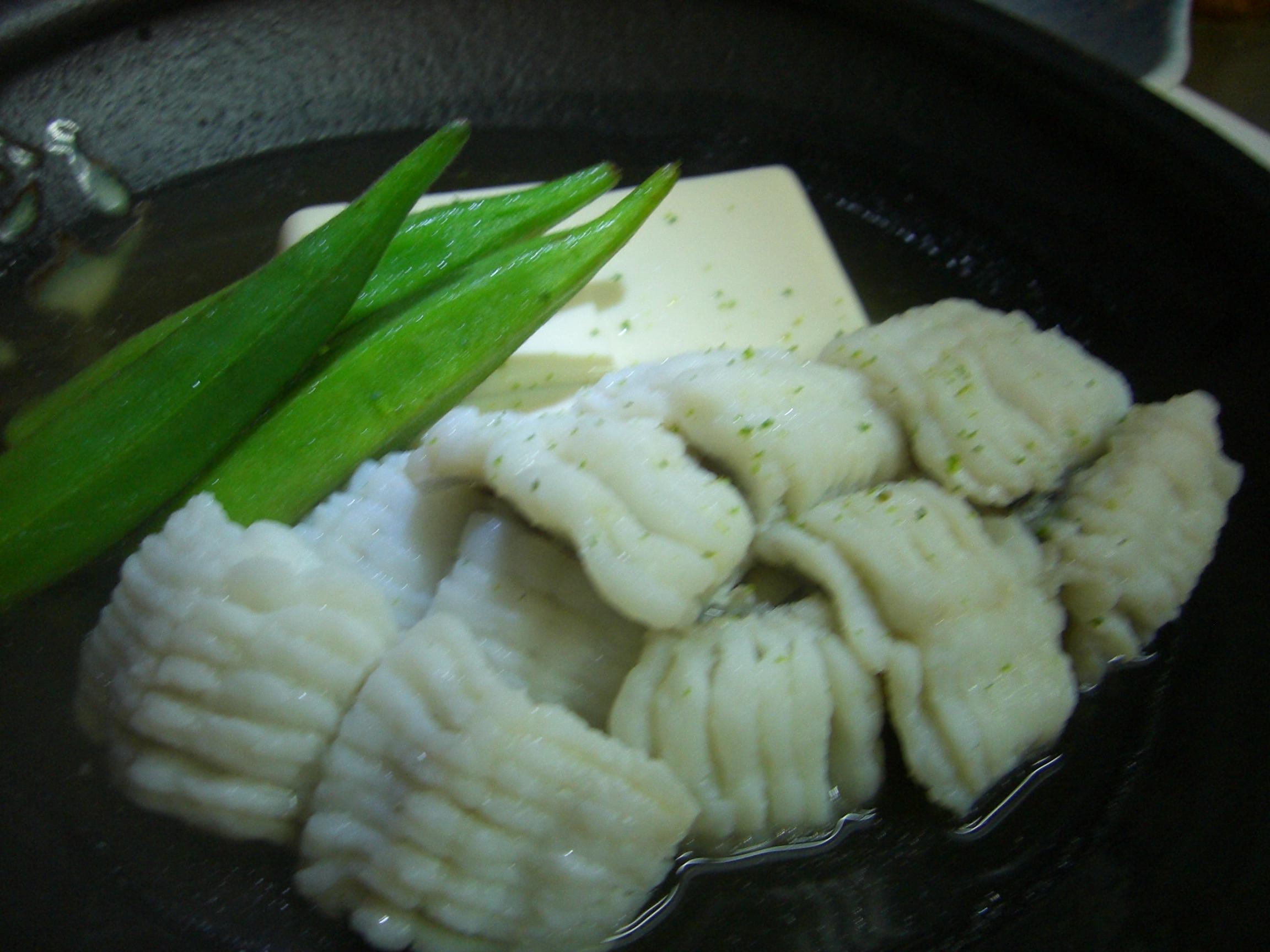 鱧と豆腐の酒蒸し(鱧料理2)