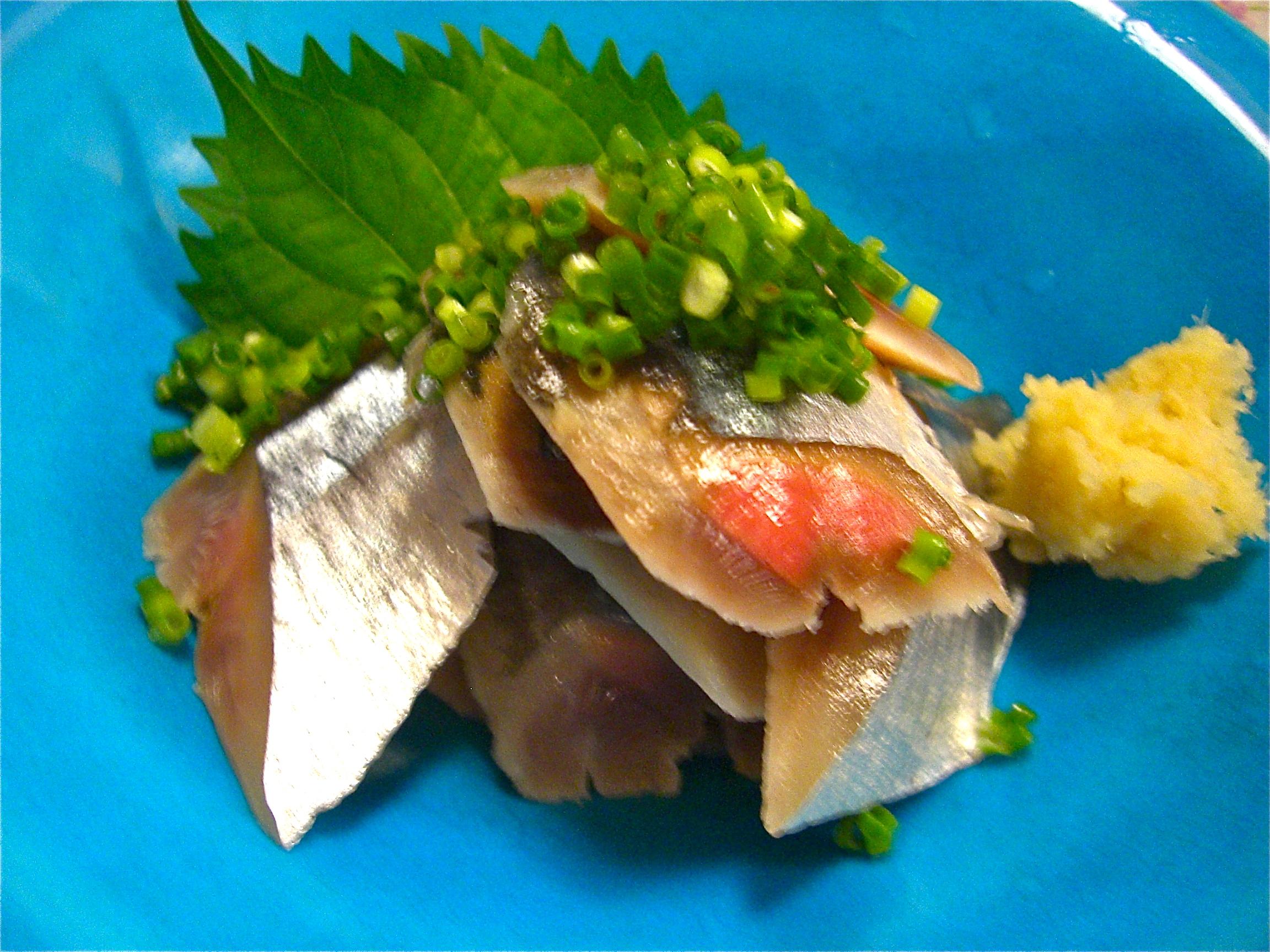 秋刀魚のきずし(秋刀魚料理5)