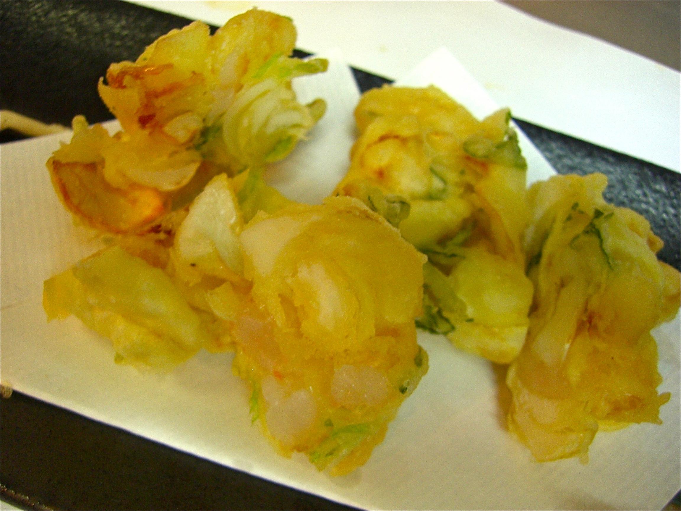 百合根と海老かき揚げ(百合根料理2)
