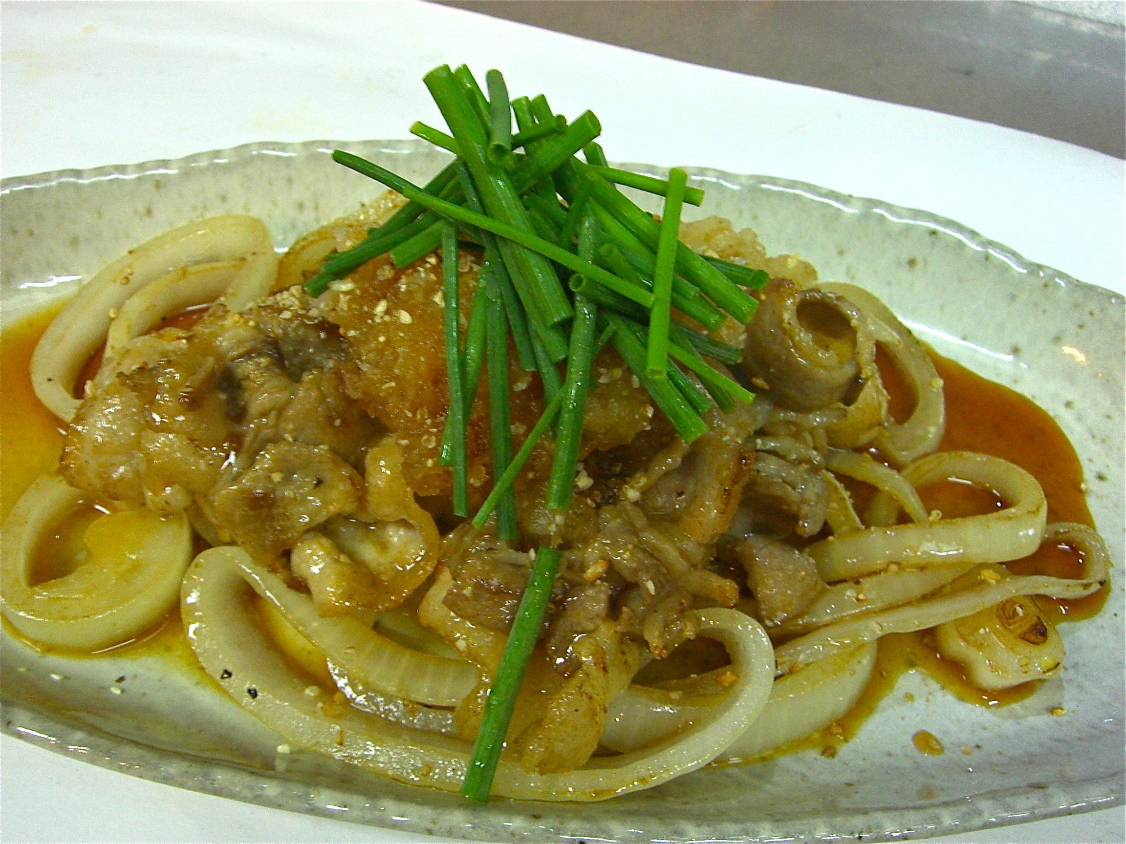 豚バラ 玉葱炒め(おろしポン酢かけ)(豚バラ肉料理3)