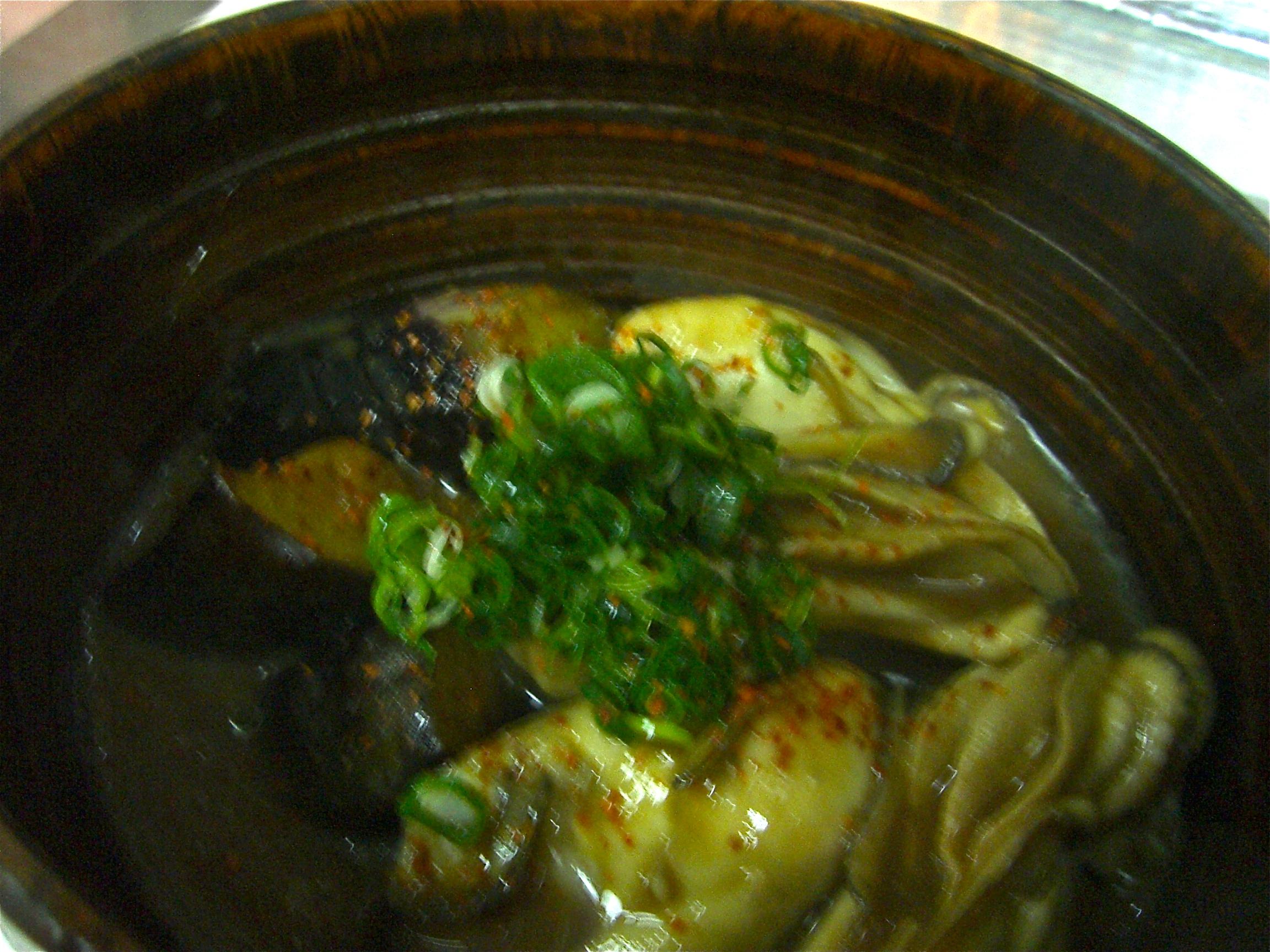 揚げ茄子とかき味噌煮