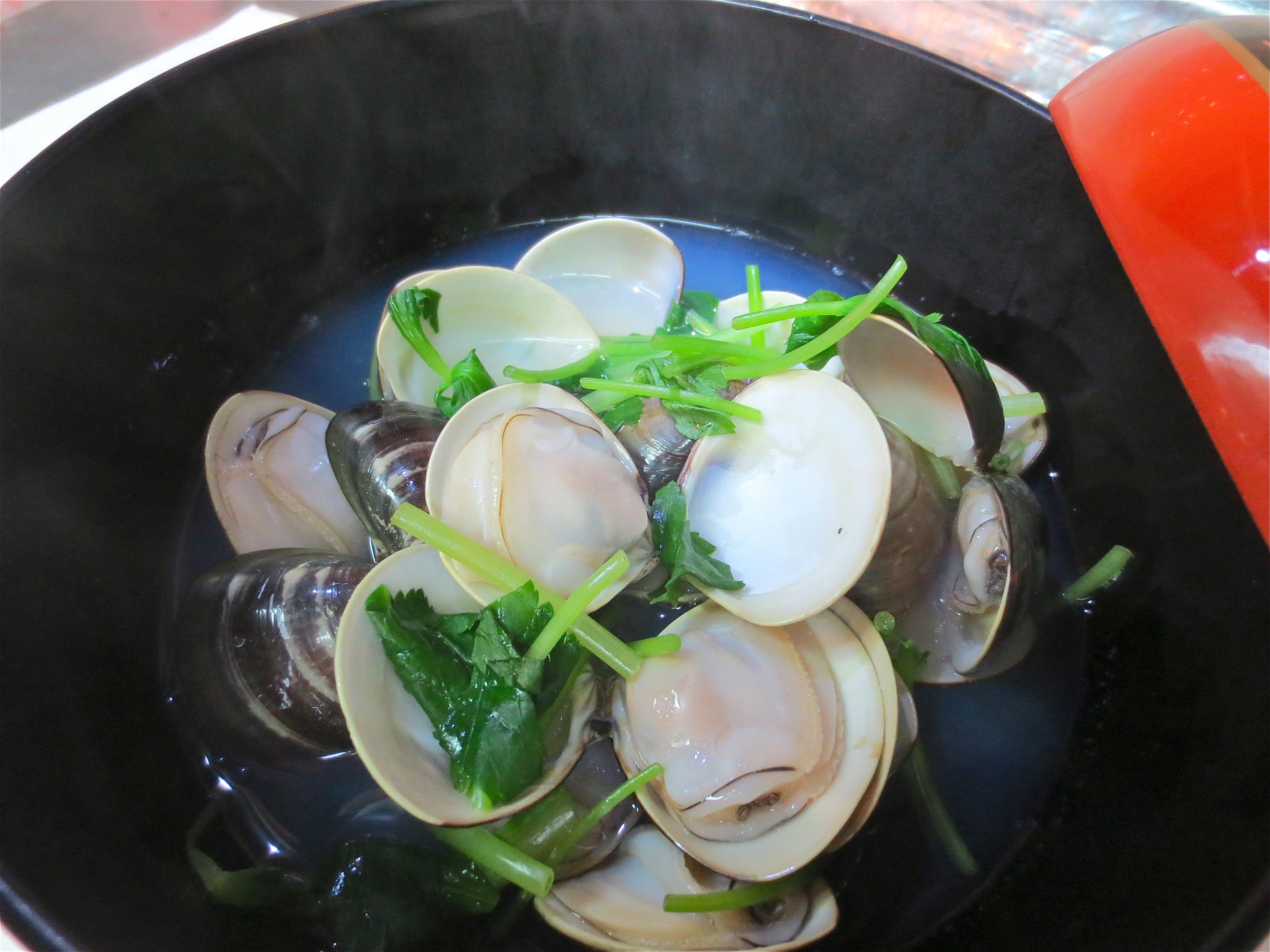 国産蛤酒蒸し