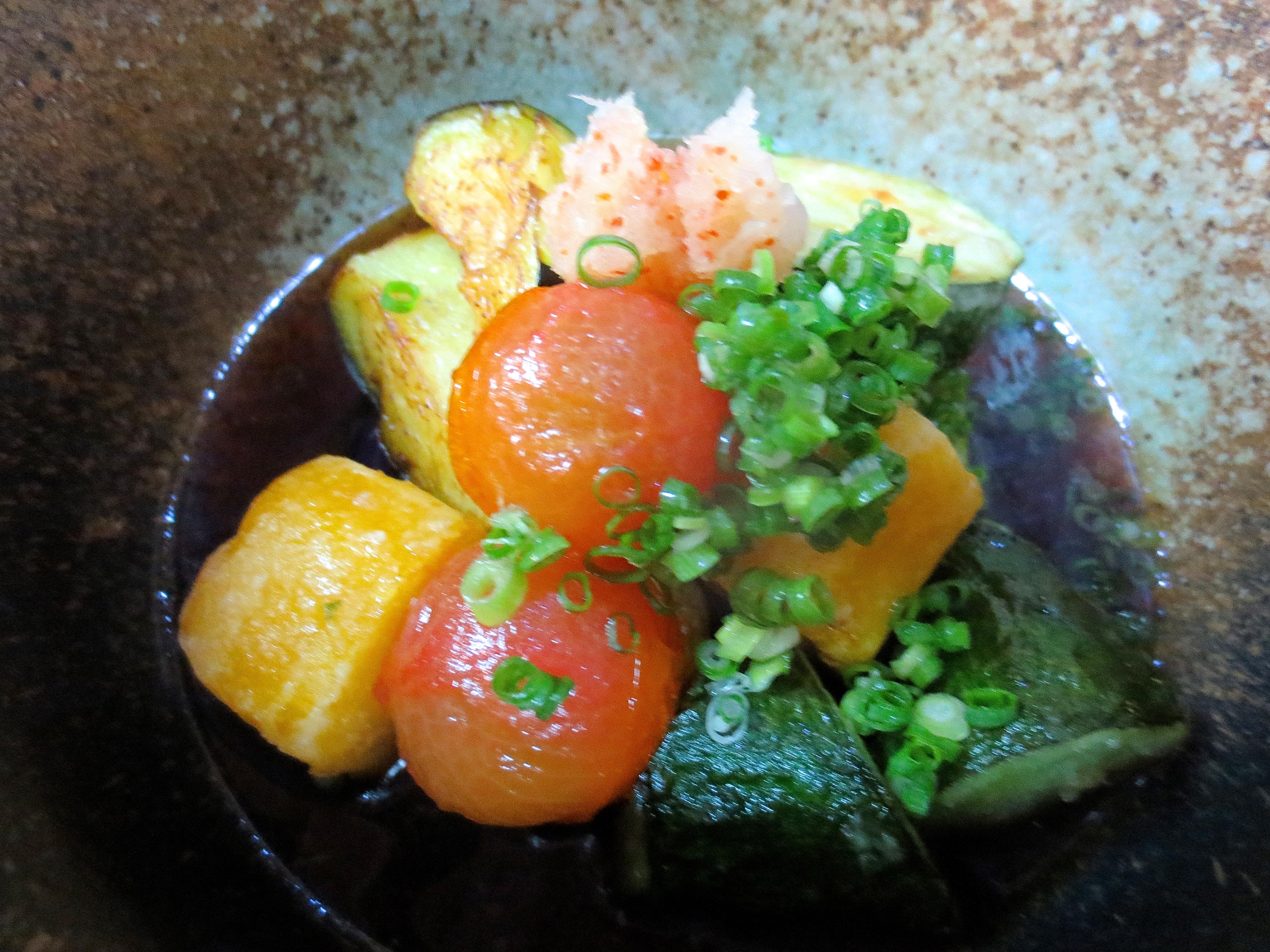 夏野菜の揚げ出し