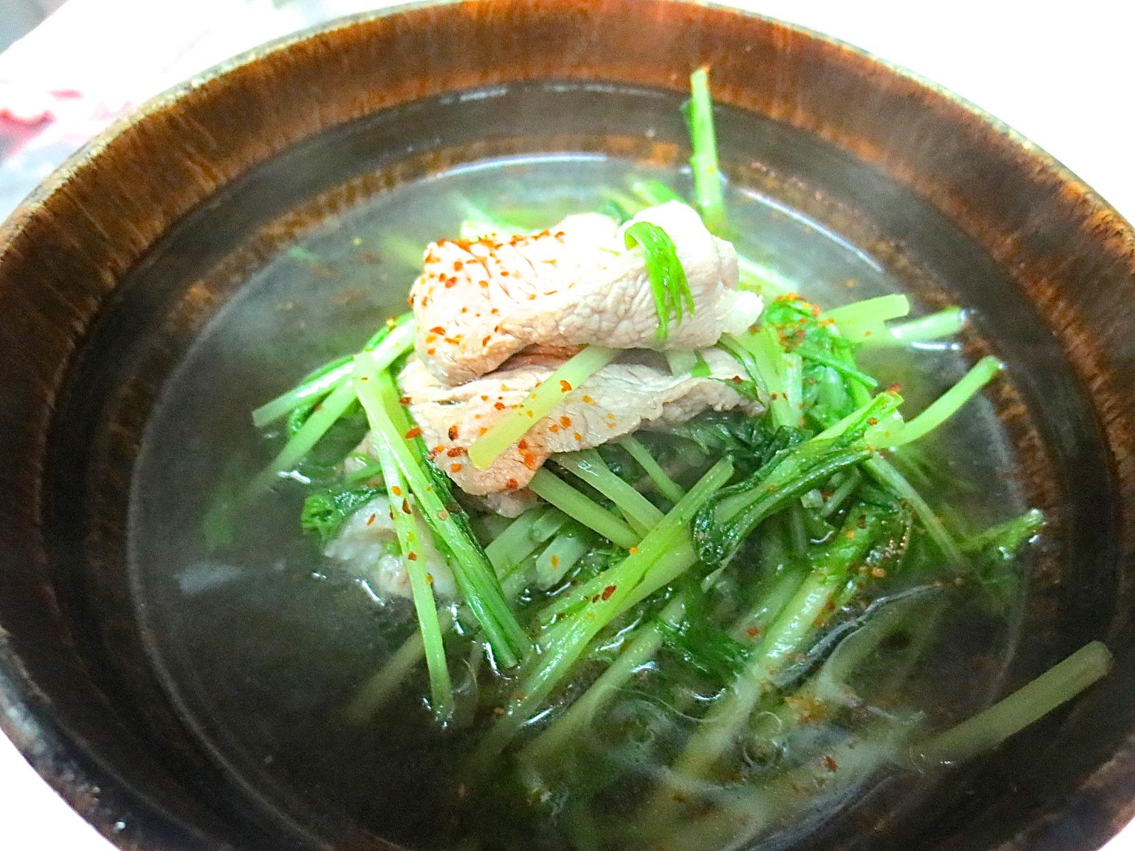 合鴨と水菜のあっさり煮