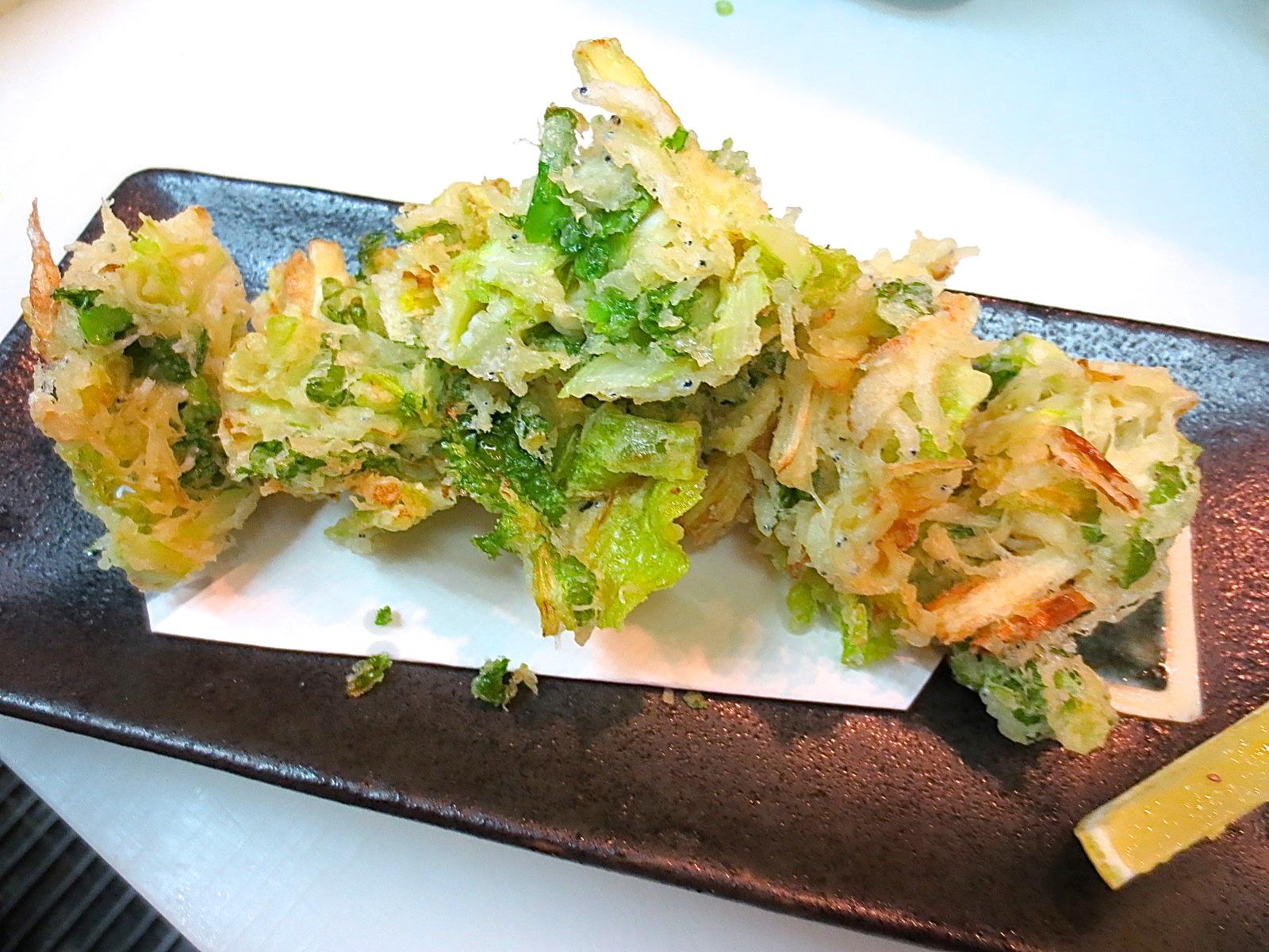 春野菜としらすかき揚げ