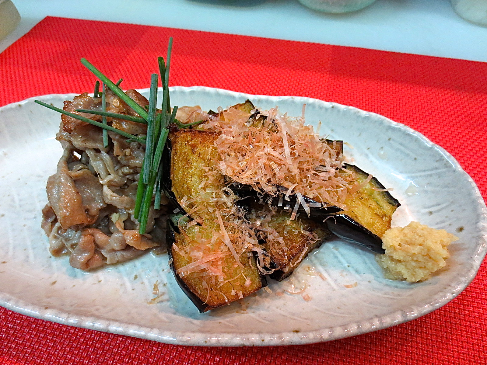 アグー豚 焼き茄子生姜醤油