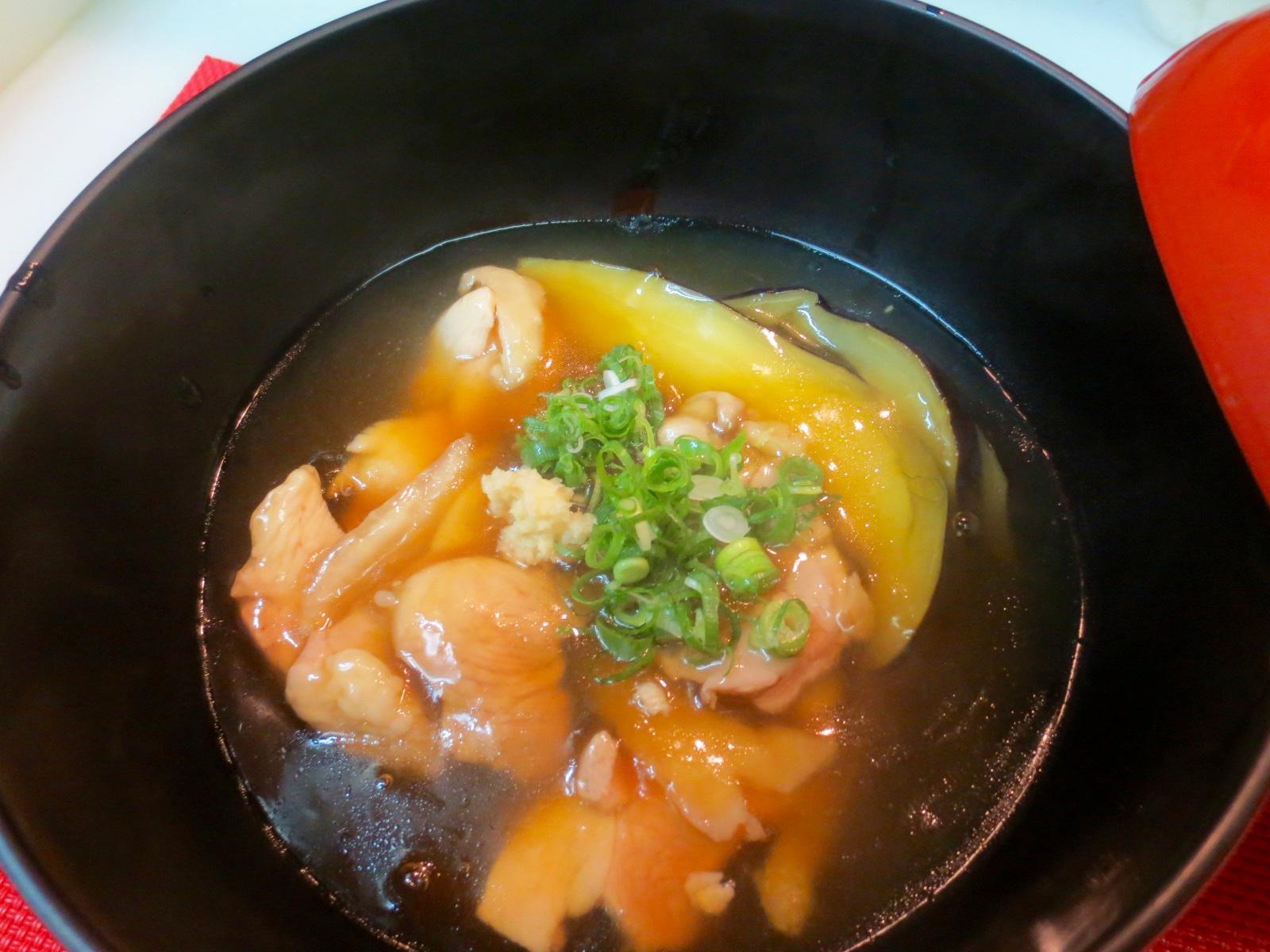 水茄子と地とりくず煮