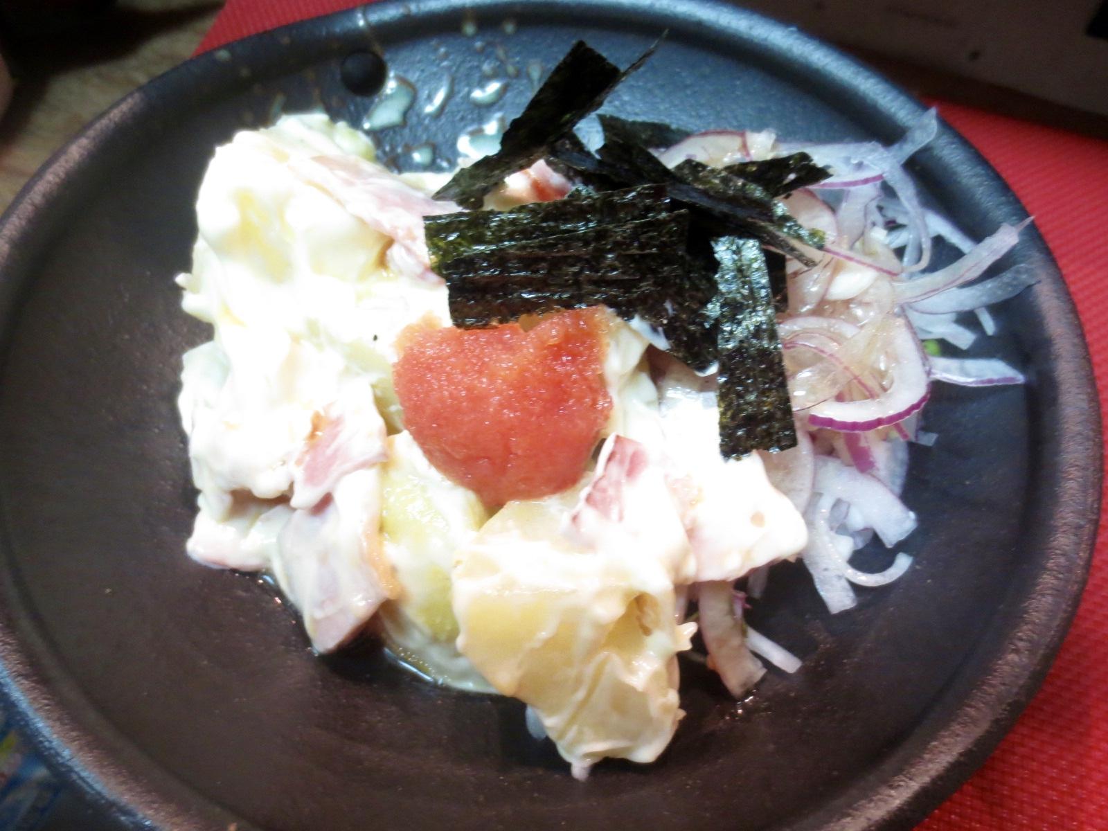 男爵芋明太子のせサラダ