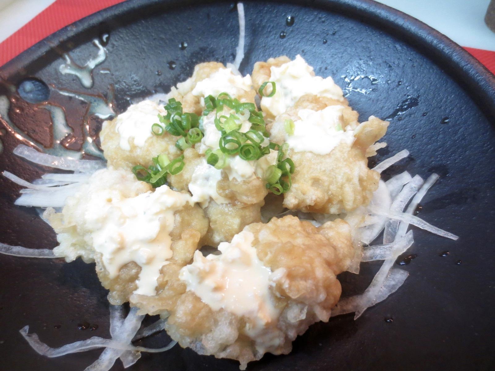 とり天ぷら(タルタルソース掛け)