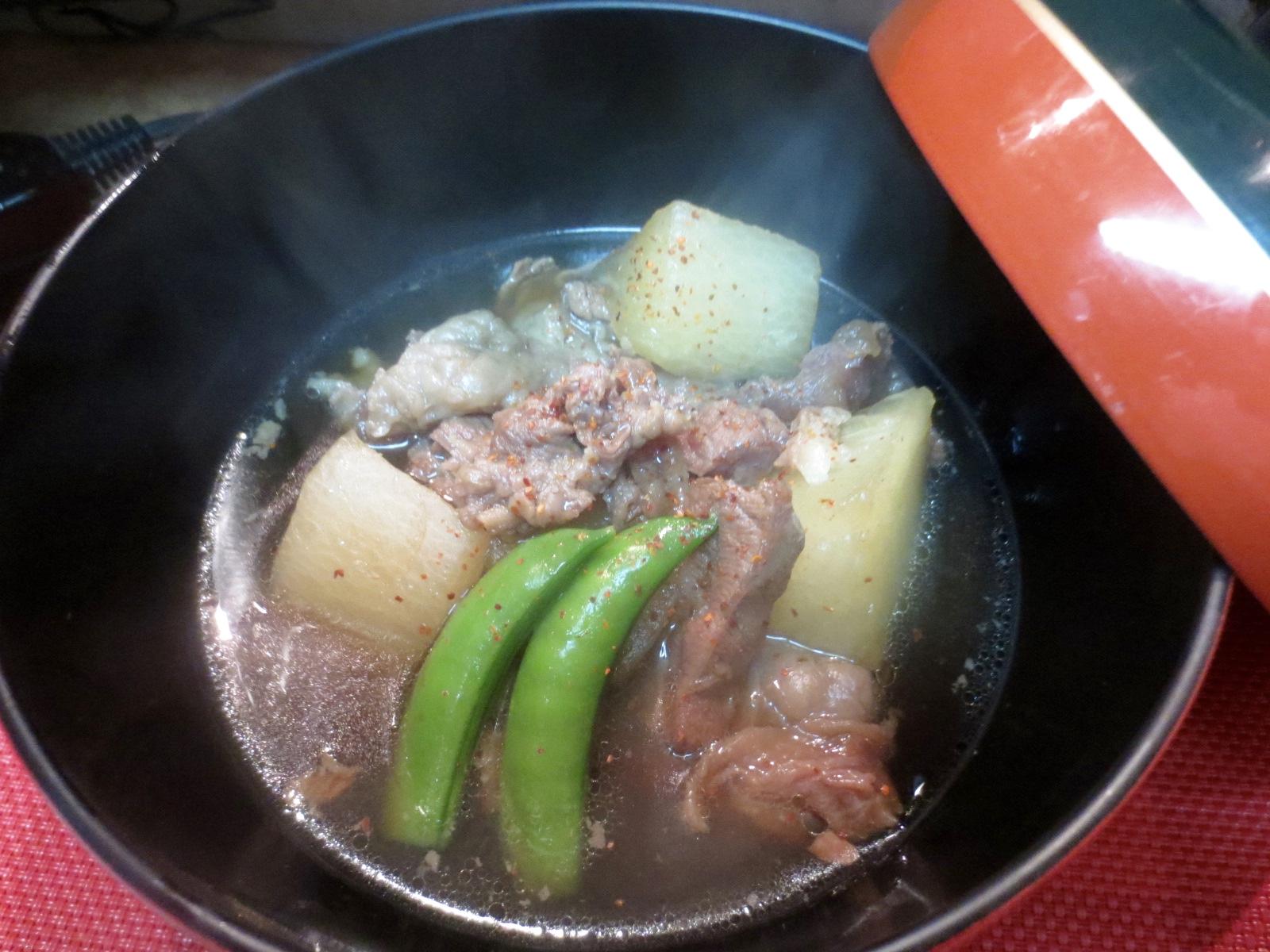 大根と牛すじ肉煮