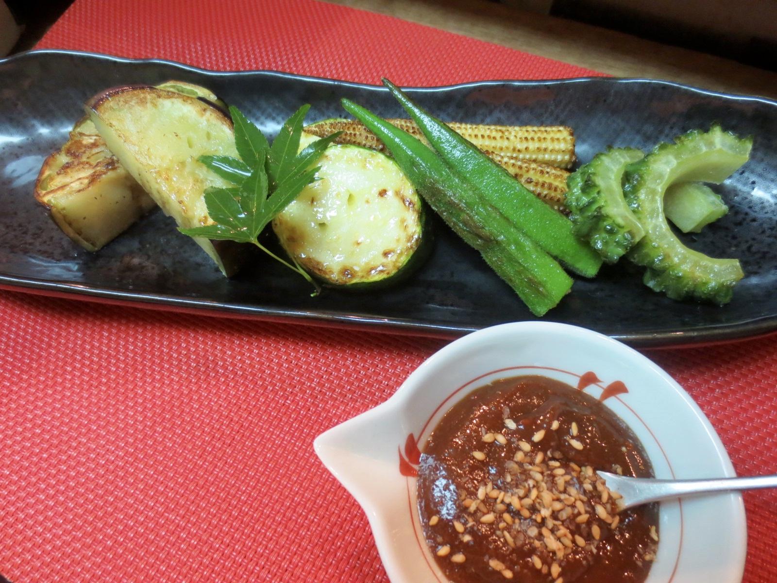 焼き夏野菜(味噌タレ)