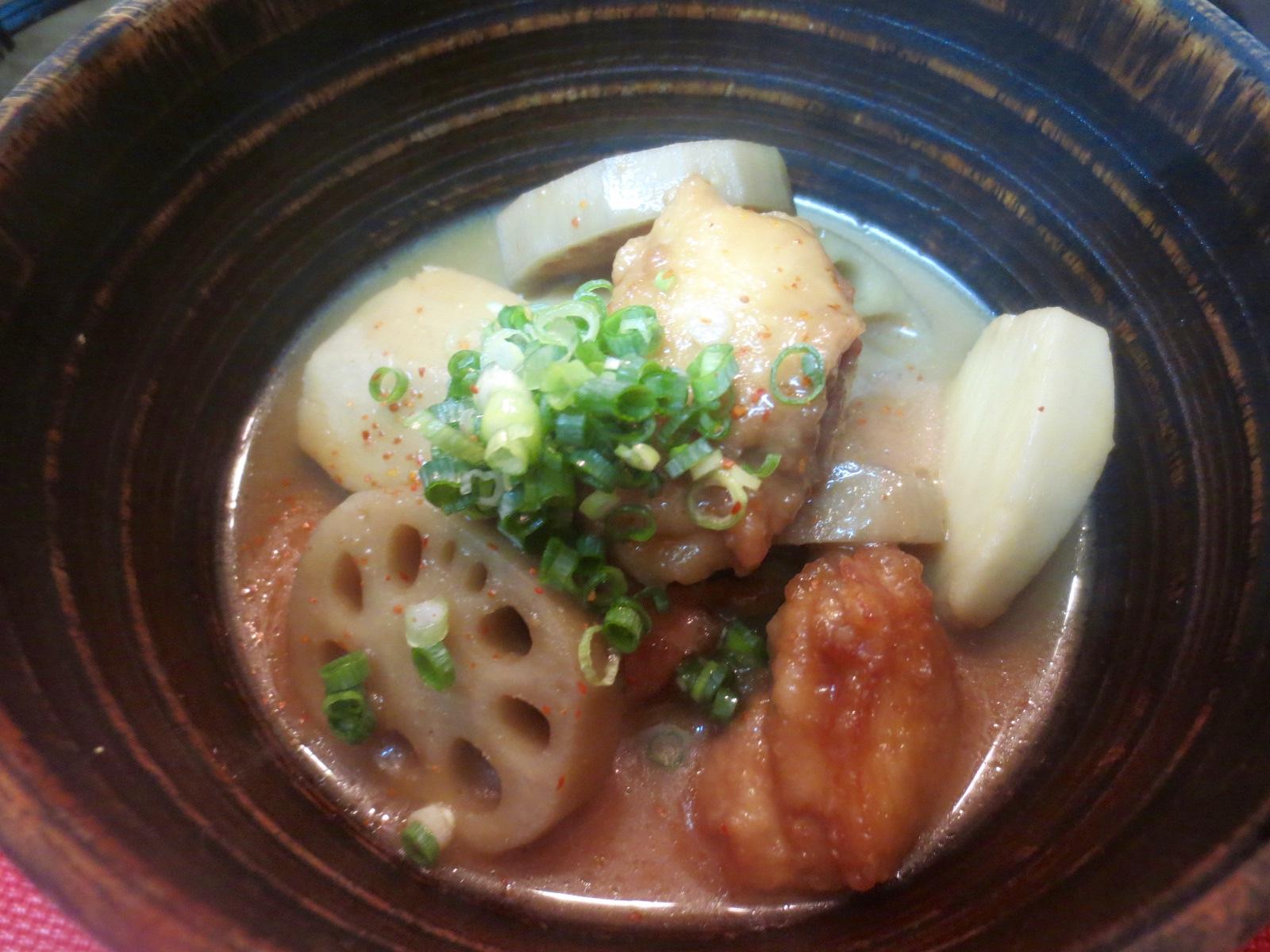 小芋、地とり、蓮根味噌煮