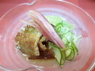 炙り穴子、胡瓜、冬瓜生姜酢